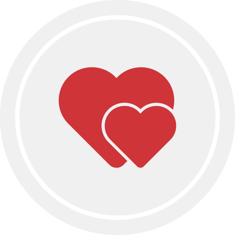 Maximize Love, Manage Stress heart icon in gray box