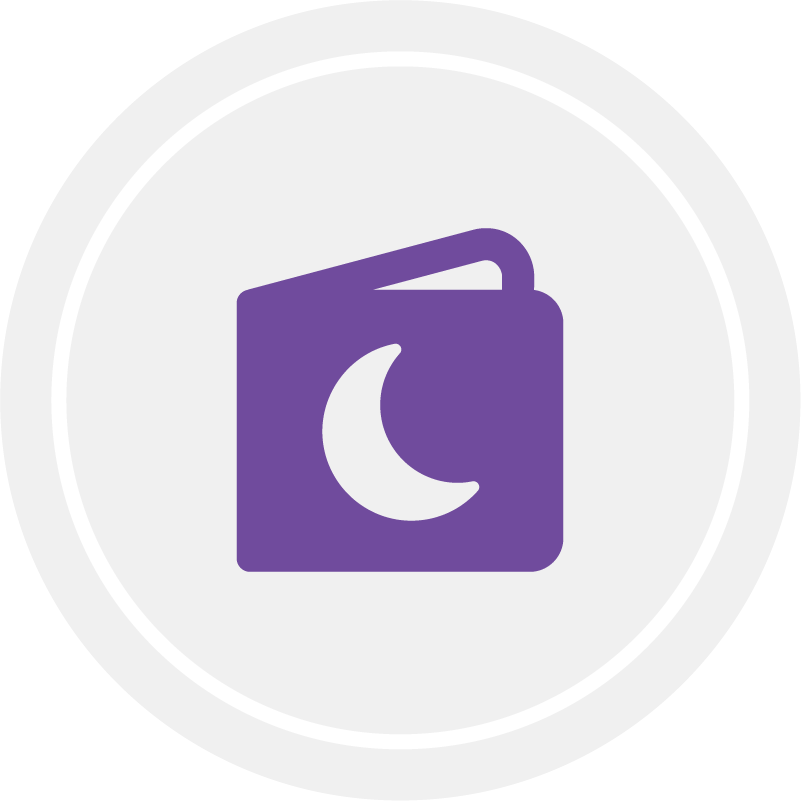Read and Discuss Stories book icon in gray circle